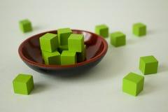 Πράσινοι κύβοι Στοκ φωτογραφία με δικαίωμα ελεύθερης χρήσης