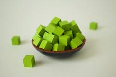 Πράσινοι κύβοι Στοκ Εικόνες
