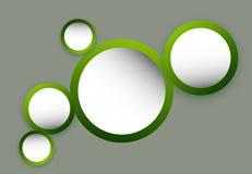 Πράσινοι κύκλοι Στοκ φωτογραφία με δικαίωμα ελεύθερης χρήσης