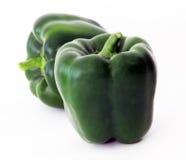 Πράσινοι νωποί καρποί πιπεριών Στοκ Φωτογραφίες