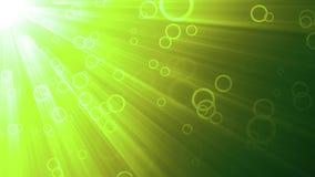 Πράσινοι ρόδινοι κύκλοι και ελαφριές ακτίνες απεικόνιση αποθεμάτων