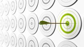 πράσινοι στόχοι βελών διανυσματική απεικόνιση