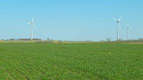 Πράσινοι τομέας και αιολική ενέργεια απόθεμα βίντεο