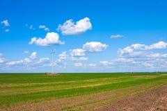 Πράσινοι τομείς, στέπα του Καζακστάν Στοκ φωτογραφίες με δικαίωμα ελεύθερης χρήσης