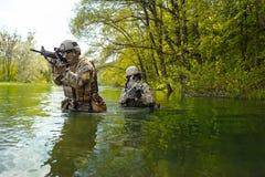Πράσινοι Berets στρατιώτες στη δράση Στοκ Φωτογραφία