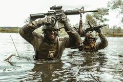 Πράσινοι Berets στρατιώτες στη δράση Στοκ Εικόνα