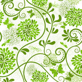 Πράσινος-άσπρο floral πρότυπο Στοκ φωτογραφία με δικαίωμα ελεύθερης χρήσης