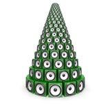 πράσινος ήχος σωρών κιβωτί&ome διανυσματική απεικόνιση