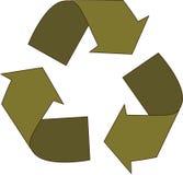 πράσινος ανακύκλωσης βε& Στοκ εικόνες με δικαίωμα ελεύθερης χρήσης