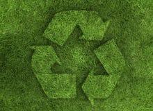 πράσινος ανακύκλωσης χλό&e διανυσματική απεικόνιση