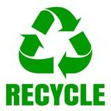 πράσινος ανακύκλωσης σημάδι ανακύκλωσης Ανακύκλωση αποβλήτων Στοκ Φωτογραφία