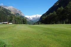 Πράσινος από Gressoney, Aosta, Ιταλία Στοκ εικόνα με δικαίωμα ελεύθερης χρήσης