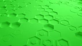 Πράσινος αφηρημένος Hexagon γεωμετρικός άνευ ραφής βρόχος 4K UHD επιφάνειας Μπροστινή όψη διανυσματική απεικόνιση