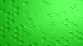 Πράσινος αφηρημένος Hexagon γεωμετρικός άνευ ραφής βρόχος 4K UHD επιφάνειας απεικόνιση αποθεμάτων