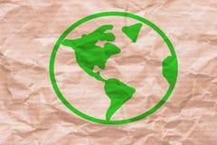 Πράσινος γήινος πλανήτης Στοκ Φωτογραφίες