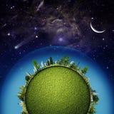 Πράσινος γήινος πλανήτης Στοκ εικόνες με δικαίωμα ελεύθερης χρήσης