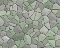 πράσινος γκρίζος τοίχος πετρών προτύπων Στοκ Εικόνα
