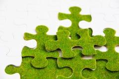 πράσινος γρίφος κομματιού Στοκ εικόνες με δικαίωμα ελεύθερης χρήσης