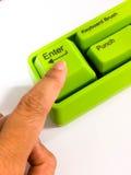 Πράσινος εισάγετε το κουμπί Στοκ φωτογραφία με δικαίωμα ελεύθερης χρήσης