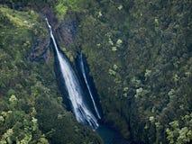 Πράσινος εξωτικός παράδεισος φυγής, Kauai, Χαβάη στοκ εικόνα