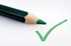 Πράσινος επικυρώστε το σημάδι Στοκ Εικόνα