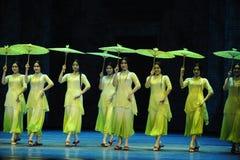 Πράσινος η έτος-δεύτερη πράξη των γεγονότων δράμα-Shawan χορού του παρελθόντος Στοκ Εικόνα
