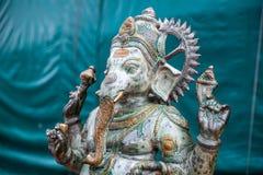 Πράσινος ινδός Θεός Ganesha Είδωλο Ganesha στοκ εικόνες με δικαίωμα ελεύθερης χρήσης