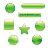 πράσινος Ιστός κουμπιών Στοκ Εικόνες