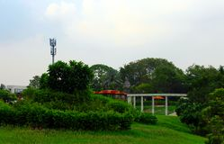 Πράσινος κήπος - πράσινο πάρκο στο Gujarat - την Ινδία - την Ασία Στοκ Φωτογραφίες