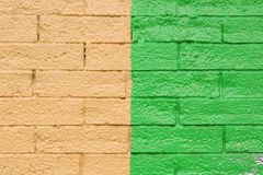 πράσινος κίτρινος τούβλου Στοκ φωτογραφία με δικαίωμα ελεύθερης χρήσης