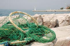 πράσινος καθαρός αλιεία&sig Στοκ Εικόνες