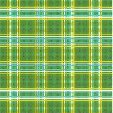 πράσινος και κίτρινος με το σχέδιο καρό αστεριών Στοκ φωτογραφίες με δικαίωμα ελεύθερης χρήσης