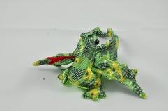 Πράσινος και κίτρινος δράκος στοκ φωτογραφίες