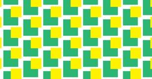 Πράσινος και κίτρινος τετραγωνικός άνευ ραφής Ελεύθερη απεικόνιση δικαιώματος
