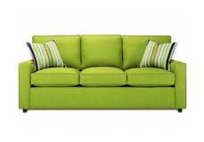 Πράσινος καναπές στοκ φωτογραφία με δικαίωμα ελεύθερης χρήσης