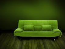 πράσινος καναπές Στοκ Φωτογραφίες