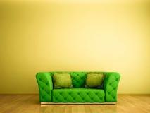 πράσινος καναπές Στοκ Φωτογραφία