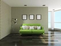 Πράσινος καναπές Στοκ εικόνα με δικαίωμα ελεύθερης χρήσης