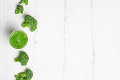 Πράσινος καταφερτζής του μπρόκολου με το διάστημα για το κείμενο Στοκ Φωτογραφία