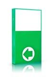 πράσινος κατεύθυνσης πινάκων διαφημίσεων BA βελών που απομονώνεται Στοκ φωτογραφία με δικαίωμα ελεύθερης χρήσης