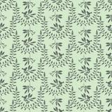 Πράσινος κλάδος πουλιών μούρων φύλλων ελιών φύσης διανυσματική απεικόνιση