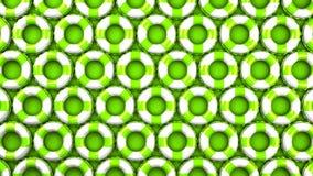 Πράσινος κολυμπήστε τα δαχτυλίδια στο πράσινο υπόβαθρο ελεύθερη απεικόνιση δικαιώματος