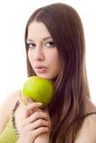 πράσινος κοριτσιών μήλων π&omic Στοκ φωτογραφίες με δικαίωμα ελεύθερης χρήσης