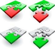 Πράσινος, κόκκινος και γκρίζος γρίφος Στοκ Εικόνες
