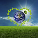 πράσινος κόσμος έννοιας Στοιχεία αυτής της εικόνας που εφοδιάζεται από τη NASA Στοκ φωτογραφίες με δικαίωμα ελεύθερης χρήσης