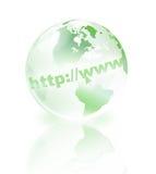 πράσινος κόσμος κρυστάλλου απεικόνιση αποθεμάτων