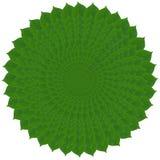 Πράσινος κύκλος από τα φύλλα Στοκ εικόνα με δικαίωμα ελεύθερης χρήσης