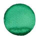 Πράσινος κύκλος που χρωματίζεται με τα watercolors που απομονώνονται σε ένα άσπρο υπόβαθρο watercolor Καθιερώνοντα τη μόδα χρώματ Στοκ φωτογραφία με δικαίωμα ελεύθερης χρήσης