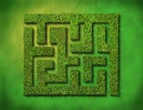 πράσινος λαβύρινθος χλόη&sig Στοκ φωτογραφία με δικαίωμα ελεύθερης χρήσης