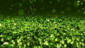 Πράσινος λαμπρός ακτινοβολεί άνευ ραφής στενό επάνω μακρο υπόβαθρο σύστασης βρόχων αφηρημένο απόθεμα βίντεο
